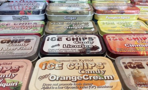 ice chips xylitol sugar free the market place natural candy Aberdeen wa