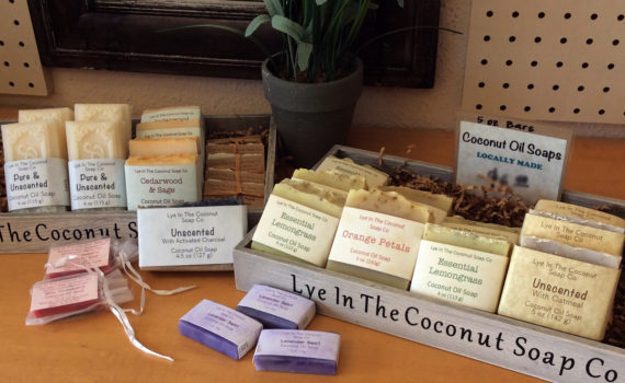local made soap at the market place aberdeen wa